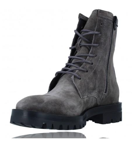 Calzados Vesga Botas de Piel Militares o Moteras para Mujer de Alpe 2047 color gris foto 4