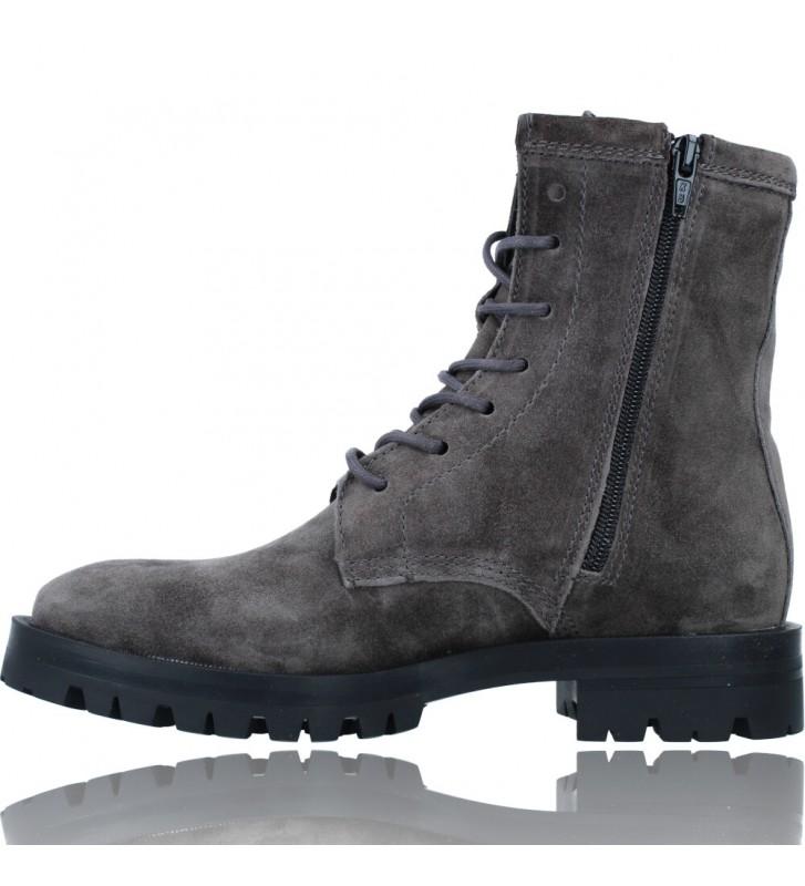 Calzados Vesga Botas de Piel Militares o Moteras para Mujer de Alpe 2047 color gris foto 5