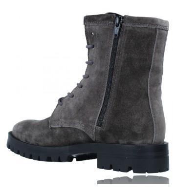 Calzados Vesga Botas de Piel Militares o Moteras para Mujer de Alpe 2047 color gris foto 6