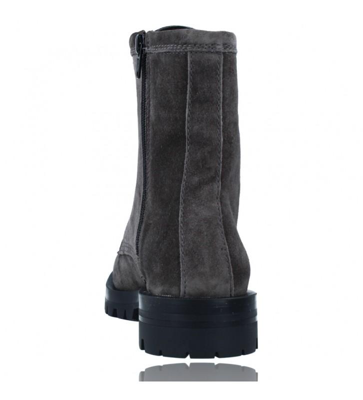Calzados Vesga Botas de Piel Militares o Moteras para Mujer de Alpe 2047 color gris foto 7