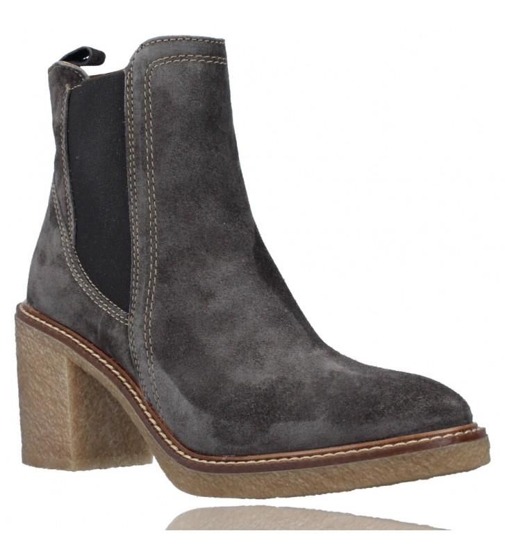 Calzados Vesga Botines de Piel estilo Casual Chelsea para Mujer de Alpe 4396 color gris foto 2