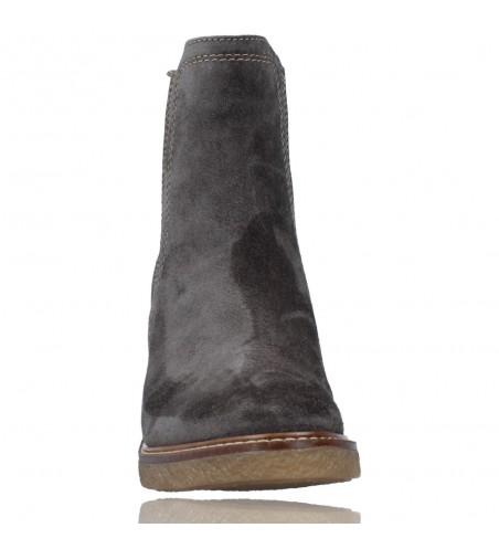 Calzados Vesga Botines de Piel estilo Casual Chelsea para Mujer de Alpe 4396 color gris foto 3