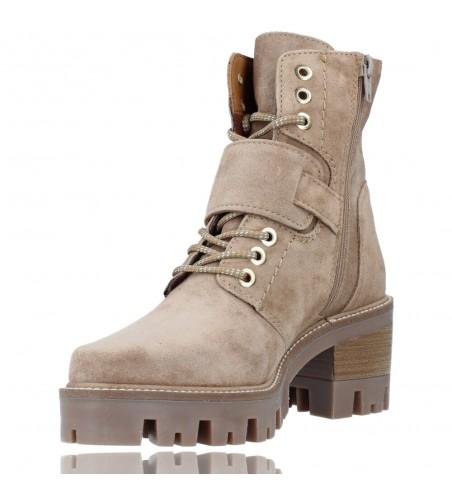 Calzados Vesga Botas de Piel con Cordones y Hebilla para Mujer de Alpe 2030 color Arena foto 4