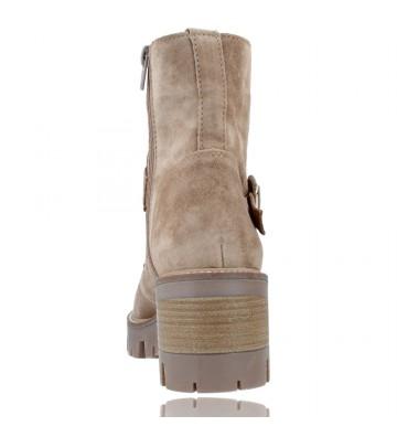 Calzados Vesga Botas de Piel con Cordones y Hebilla para Mujer de Alpe 2030 color Arena foto 7