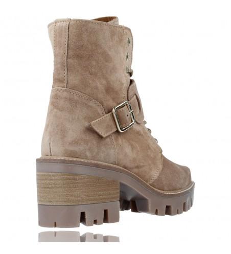 Calzados Vesga Botas de Piel con Cordones y Hebilla para Mujer de Alpe 2030 color Arena foto 8