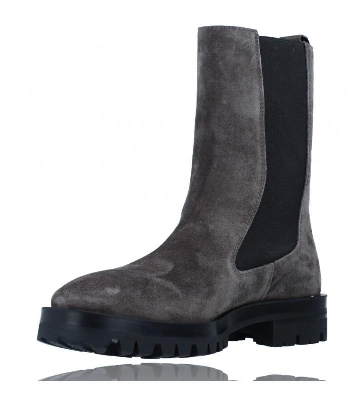 Calzados Vesga Botas de Piel de Estilo Casual para Mujer de Alpe 2041 color gris foto 4