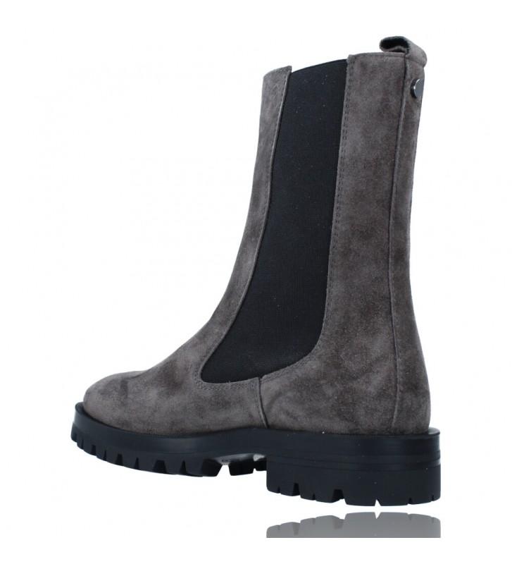 Calzados Vesga Botas de Piel de Estilo Casual para Mujer de Alpe 2041 color gris foto 6