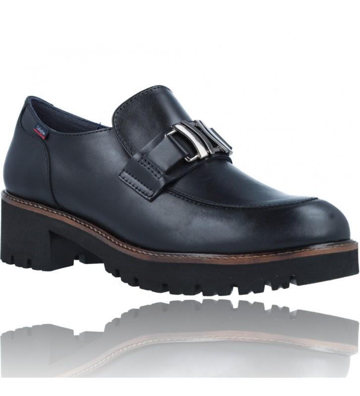 Calzados Vesga Zapatos Mocasines de Piel para Mujer de Callaghan Adaptaction 13438 Cedral color negro foto 2