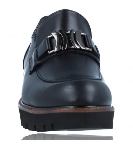 Calzados Vesga Zapatos Mocasines de Piel para Mujer de Callaghan Adaptaction 13438 Cedral color negro foto 3
