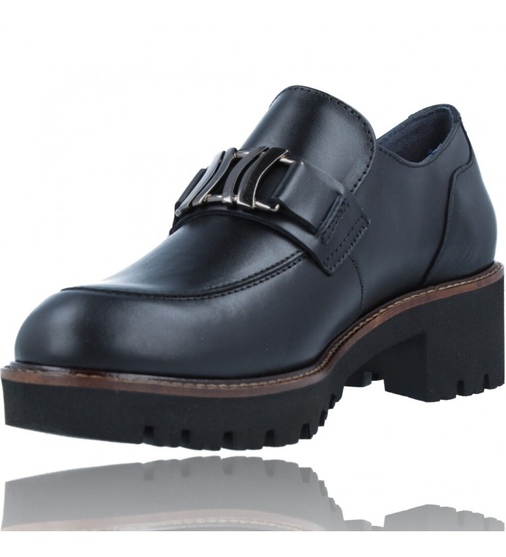 Calzados Vesga Zapatos Mocasines de Piel para Mujer de Callaghan Adaptaction 13438 Cedral color negro foto 4