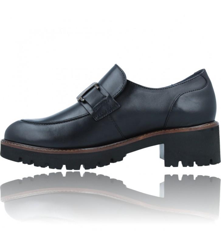 Calzados Vesga Zapatos Mocasines de Piel para Mujer de Callaghan Adaptaction 13438 Cedral color negro foto 5