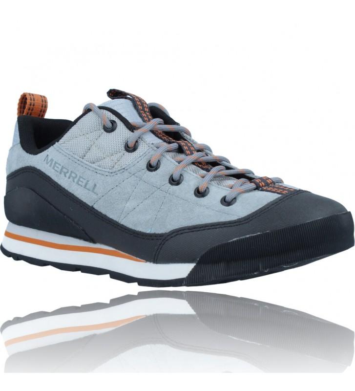 Calzados Vesga Zapatillas Deportivas de Piel para Hombres de Merrell Catalyst Trek J003617 color azul y naranja foto 2