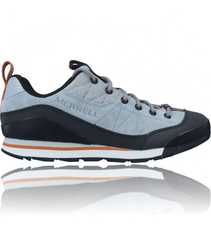 Calzados Vesga Zapatillas Deportivas de Piel para Hombres de Merrell Catalyst Trek J003617 color azul y naranja foto 1