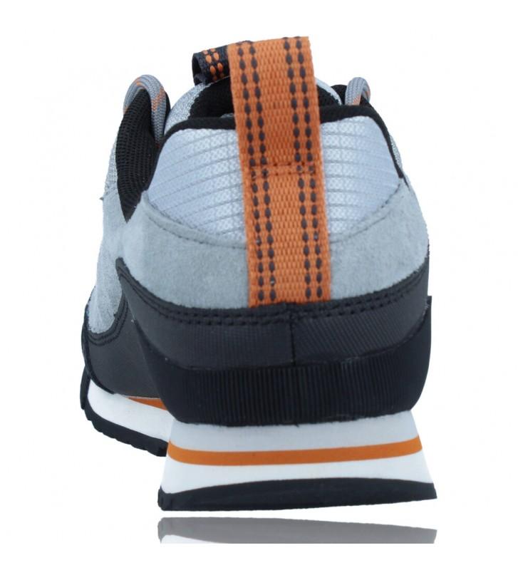Calzados Vesga Zapatillas Deportivas de Piel para Hombres de Merrell Catalyst Trek J003617 color azul y naranja foto 7