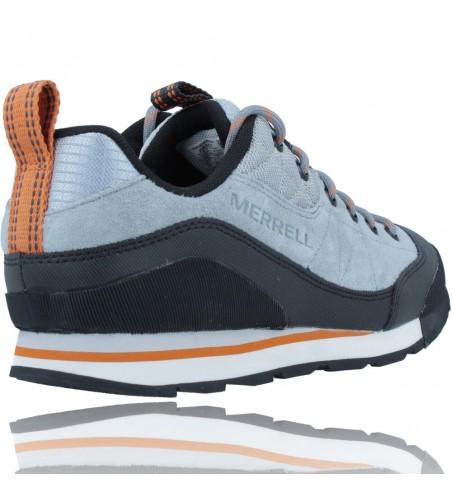 Calzados Vesga Zapatillas Deportivas de Piel para Hombres de Merrell Catalyst Trek J003617 color azul y naranja foto 8