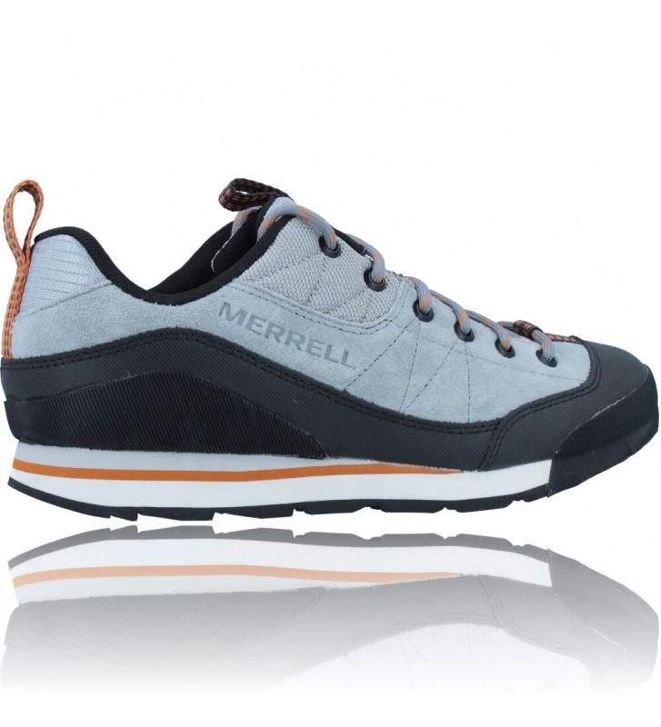 Calzados Vesga Zapatillas Deportivas de Piel para Hombres de Merrell Catalyst Trek J003617 color azul y naranja foto 9