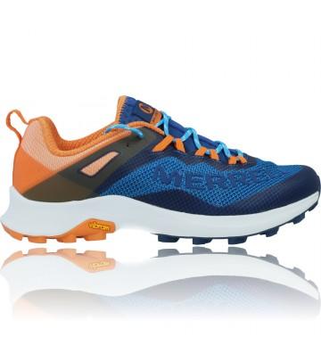 Calzados Vesga Zapatillas Deportivas de Competición para Hombre Merrell Mtl Long Sky J135153 color azul y naranja foto 1