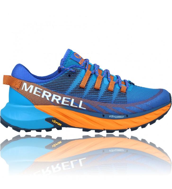 Calzados Vesga Zapatillas Deportivas de Trail Running para Hombre de Merrell Agility Peak 4 color azul y naranja foto 1