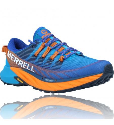 Calzados Vesga Zapatillas Deportivas de Trail Running para Hombre de Merrell Agility Peak 4 color azul y naranja foto 2