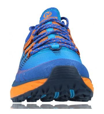 Calzados Vesga Zapatillas Deportivas de Trail Running para Hombre de Merrell Agility Peak 4 color azul y naranja foto 3