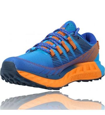 Calzados Vesga Zapatillas Deportivas de Trail Running para Hombre de Merrell Agility Peak 4 color azul y naranja foto 4