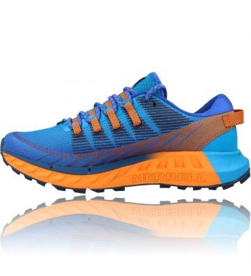 Calzados Vesga Zapatillas Deportivas de Trail Running para Hombre de Merrell Agility Peak 4 color azul y naranja foto 5