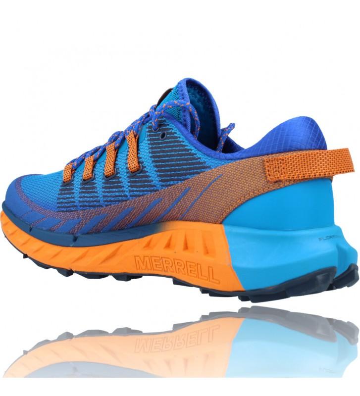 Calzados Vesga Zapatillas Deportivas de Trail Running para Hombre de Merrell Agility Peak 4 color azul y naranja foto 6