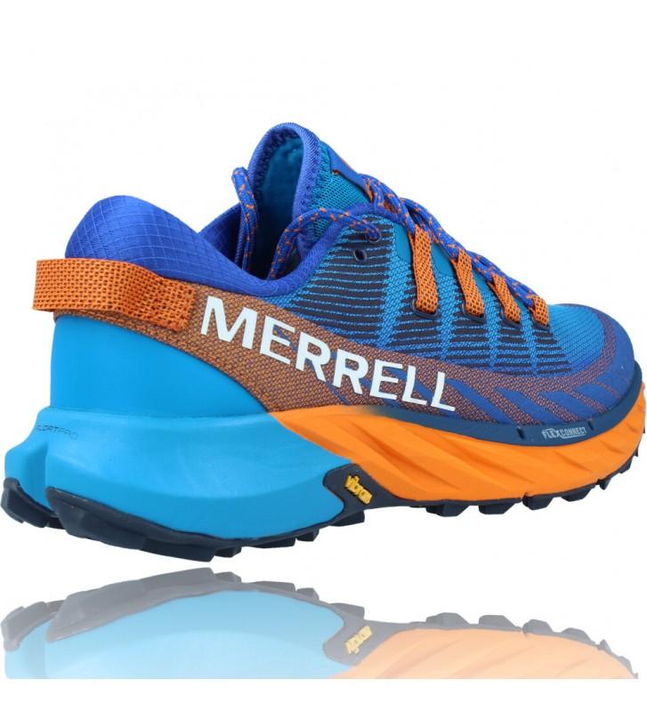Calzados Vesga Zapatillas Deportivas de Trail Running para Hombre de Merrell Agility Peak 4 color azul y naranja foto 8