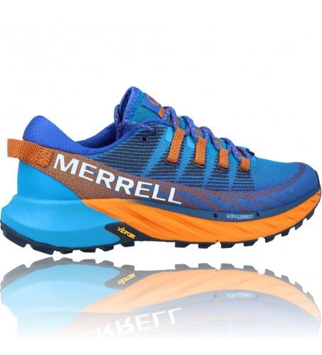 Calzados Vesga Zapatillas Deportivas de Trail Running para Hombre de Merrell Agility Peak 4 color azul y naranja foto 9