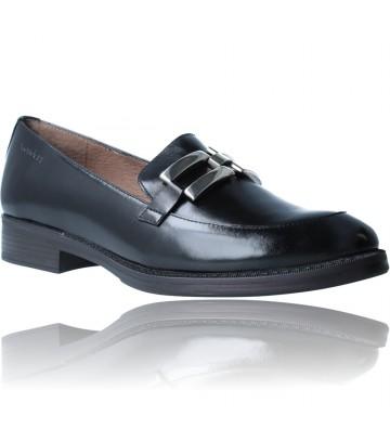 Calzados Vesga Zapatos Mocasines de Piel para Mujer de Wonders A-7250 color negro foto 2