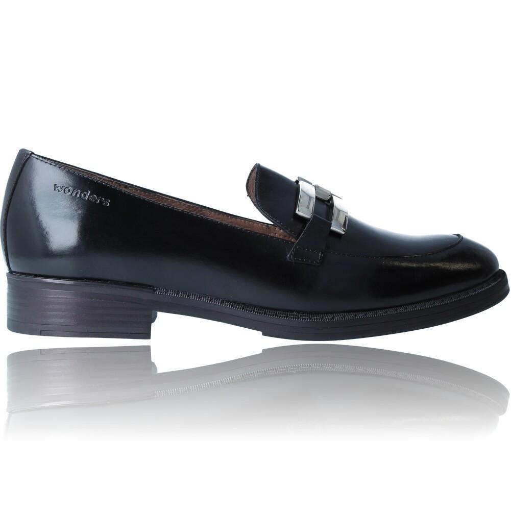 Calzados Vesga Zapatos Mocasines de Piel para Mujer de Wonders A-7250 color negro foto 1