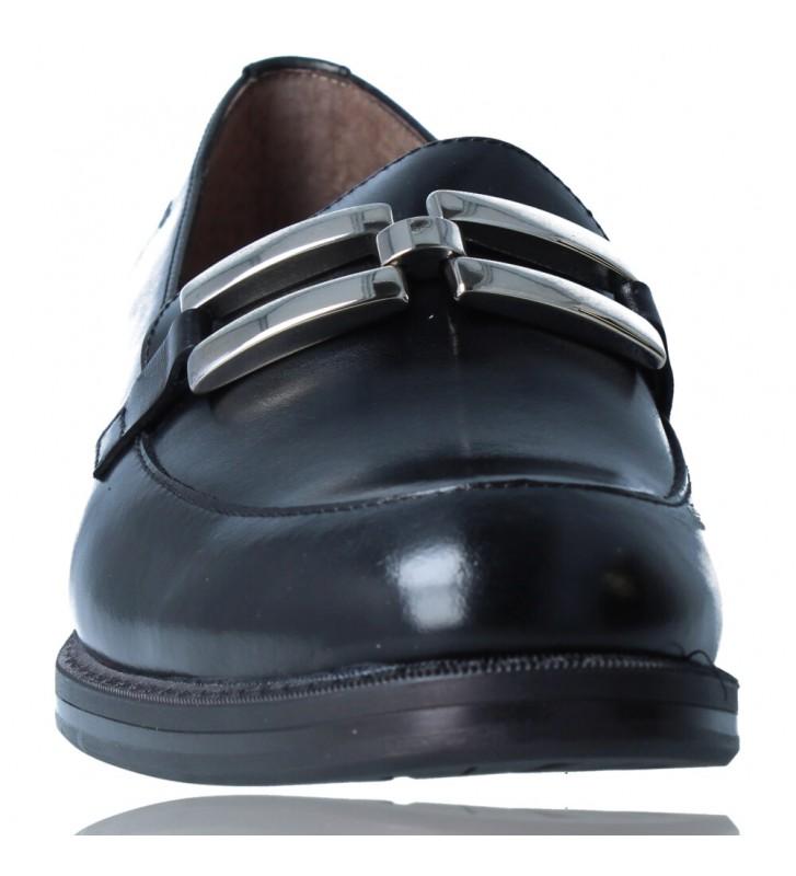 Calzados Vesga Zapatos Mocasines de Piel para Mujer de Wonders A-7250 color negro foto 3