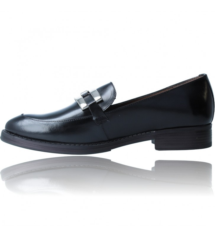 Calzados Vesga Zapatos Mocasines de Piel para Mujer de Wonders A-7250 color negro foto 5