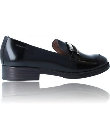 Calzados Vesga Zapatos Mocasines de Piel para Mujer de Wonders A-7250 color negro foto 9