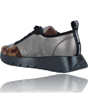 Calzados Vesga Zapatillas Deportivas Casual de Piel para Mujer de Wonders Luna A-2416 color leopardo foto 6