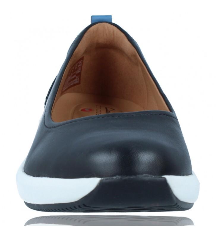 Calzados Vesga Zapatos Bailarinas Casual de Piel para Mujer de Clarks Unstructured Un Rio Vibe color negro foto 3