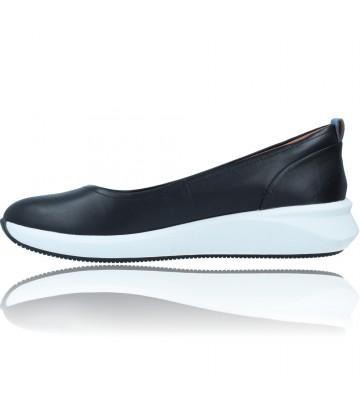Calzados Vesga Zapatos Bailarinas Casual de Piel para Mujer de Clarks Unstructured Un Rio Vibe color negro foto 5