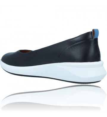 Calzados Vesga Zapatos Bailarinas Casual de Piel para Mujer de Clarks Unstructured Un Rio Vibe color negro foto 6
