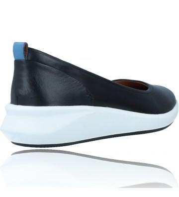 Calzados Vesga Zapatos Bailarinas Casual de Piel para Mujer de Clarks Unstructured Un Rio Vibe color negro foto 8
