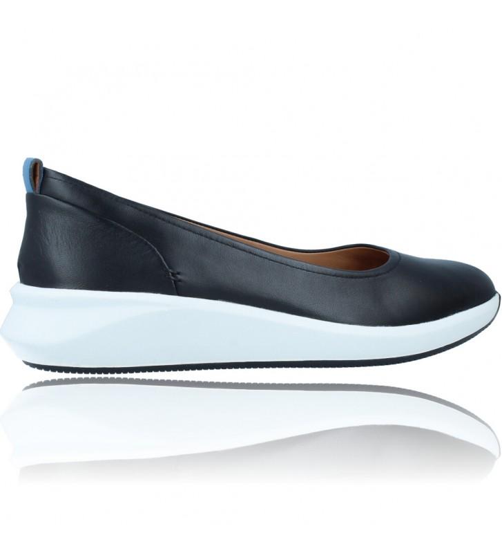 Calzados Vesga Zapatos Bailarinas Casual de Piel para Mujer de Clarks Unstructured Un Rio Vibe color negro foto 9
