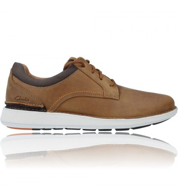 Calzados Vesga Zapatos Casual de Piel con Cordón para hombres de Clarks Larvik Tie color cuero foto 1