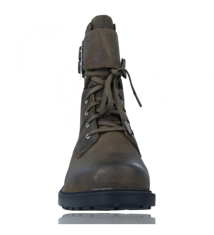 Calzados Vesga Botas Militares de Piel con Cordones para Mujer de Clarks Orinoco 2 Lace color marrón foto 3