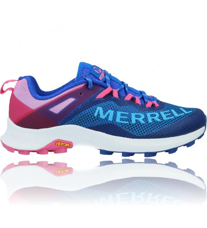 Calzados Vesga Zapatillas Deportivas de Running para Mujer de Merrell Mtl Long Sky J135156 color azul y rosa foto 1