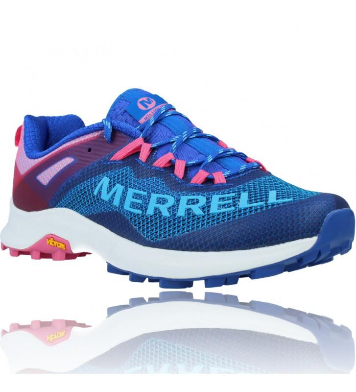 Calzados Vesga Zapatillas Deportivas de Running para Mujer de Merrell Mtl Long Sky J135156 color azul y rosa foto 2