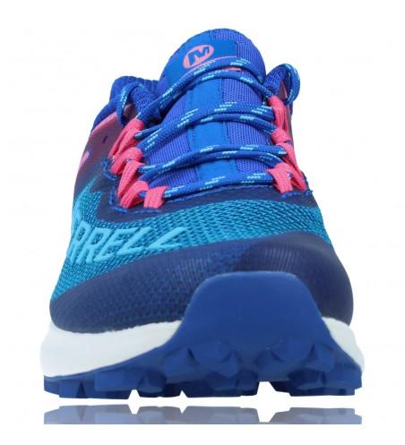 Calzados Vesga Zapatillas Deportivas de Running para Mujer de Merrell Mtl Long Sky J135156 color azul y rosa foto 3