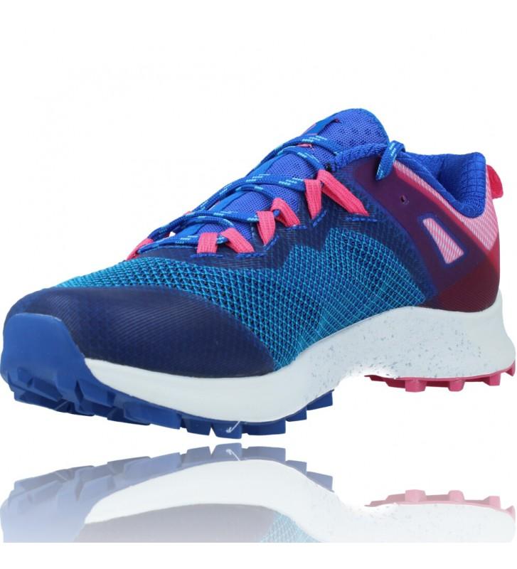 Calzados Vesga Zapatillas Deportivas de Running para Mujer de Merrell Mtl Long Sky J135156 color azul y rosa foto 4