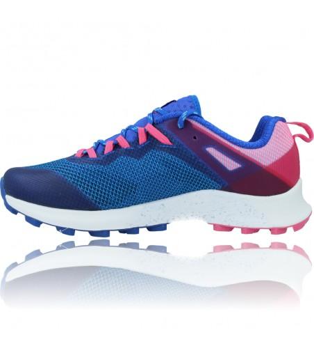 Calzados Vesga Zapatillas Deportivas de Running para Mujer de Merrell Mtl Long Sky J135156 color azul y rosa foto 5