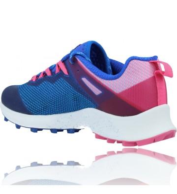 Calzados Vesga Zapatillas Deportivas de Running para Mujer de Merrell Mtl Long Sky J135156 color azul y rosa foto 6