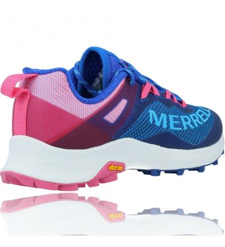 Calzados Vesga Zapatillas Deportivas de Running para Mujer de Merrell Mtl Long Sky J135156 color azul y rosa foto 8