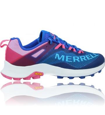 Calzados Vesga Zapatillas Deportivas de Running para Mujer de Merrell Mtl Long Sky J135156 color azul y rosa foto 9